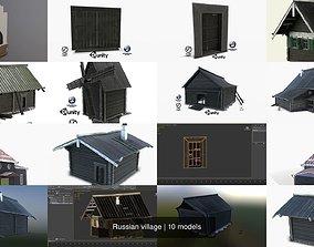 3D model Russian village