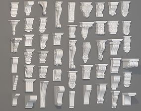 3D Corbels Collection -1 - 51 pieces