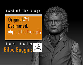3D printable model Ian Holm - Bilbo Baggins - Lord Of The