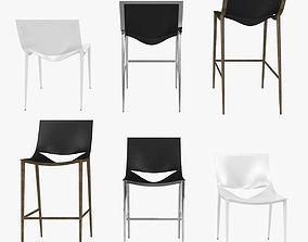 modloft sloane barstool counter stool chair 3D model