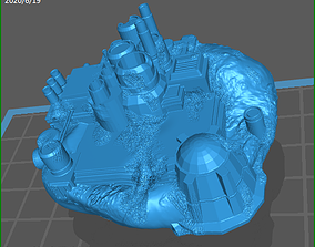 3D printable model Pirate Base for space wargaming