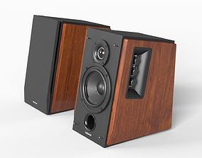 3D asset Low-poly Desktop Speakers