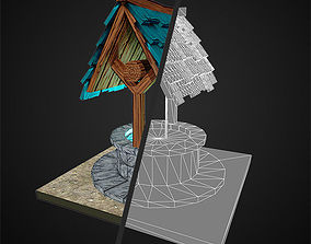 Low Poly Magic Well 3D asset