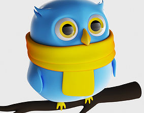 3D Toy Owl Animal Character