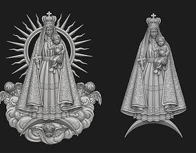 3D Virgen del Cobre Pendant Set