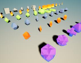 43 Mineral Basic Shapes 3D asset