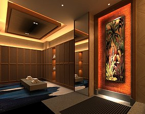 Asian Style Massage and Sauna 3D model