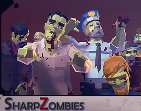 Sharp Zombies 3D asset