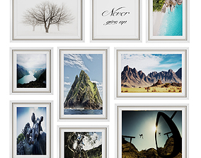 photo frame wall 9 collection 3D model
