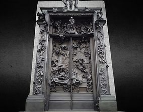 3D model Rodin Gates of Hell photogrammetry scan