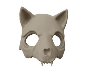 Cat skull mask 3D printable model