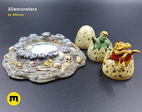 Surprise Egg Miniature 3Demonsters