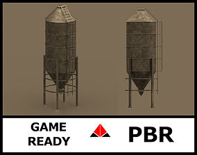 Silos 3D model game-ready