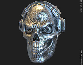 Skull with headphone vol3 ring jewelry 3D printable model