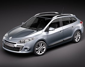Renault Megane GrandTour - Estate - 2010 3D Model