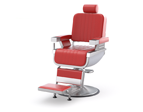 Barber Chair 3D seat