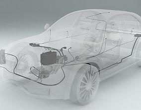 3D model Wiring Inside a Car