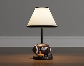 3D asset low-poly Football Brown Accent Lamp
