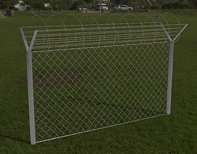 Barbed Wire Fence 3D asset