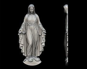 3D printable model Virgin Mary Statue Pendant