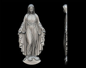 3D printable model Virgin Mary Statue Pendant