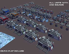 3D model animated RTS Sci-Fi game assets v3