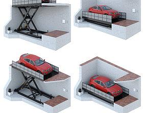 Car lift 4 3D model architecture