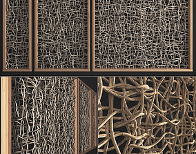 3D Branch crooked decor wall n1