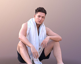 3D asset Dan 10482 - Sitting Summer Man