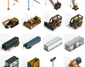 Industrial Vehicles Collections 3D asset VR / AR ready