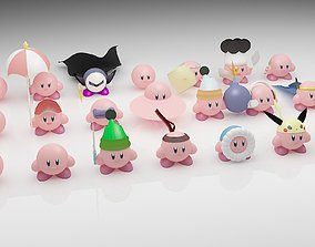 3D model low-poly kirby