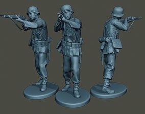 German soldier ww2 Shoot Stand G1 3D print model