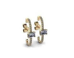 Jewelry Earrings modern 3D print model
