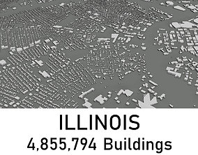 Illinois - 4855794 3D Buildings low-poly