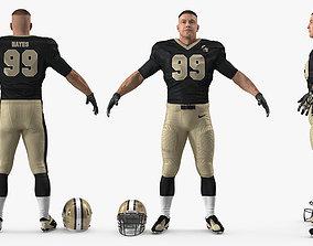 3D American Football Player New Orleans Saints