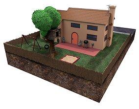 3D model Simpsons house
