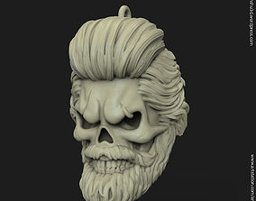 Skull bearded vol1 Pendant 3D print model