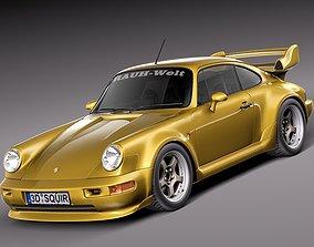 3D model Porsche 911 964 turbo 1990