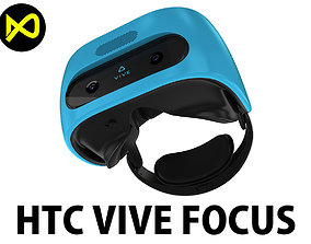 HTC Vive Focus Blue Headset 3D model