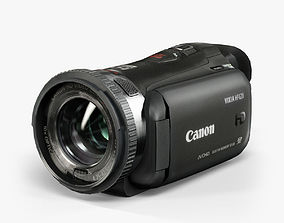 3D asset Canon Vixia HF G20 Black