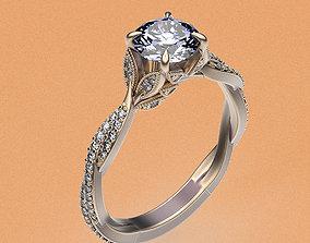 rings Ring Leaves 3D printable model