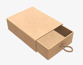 Drawer cardboard gift box 02 3D model