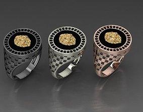 Lion ring man jewelry designer 3D print model