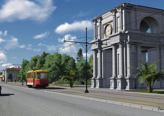 SKODA retro tramway 3D model