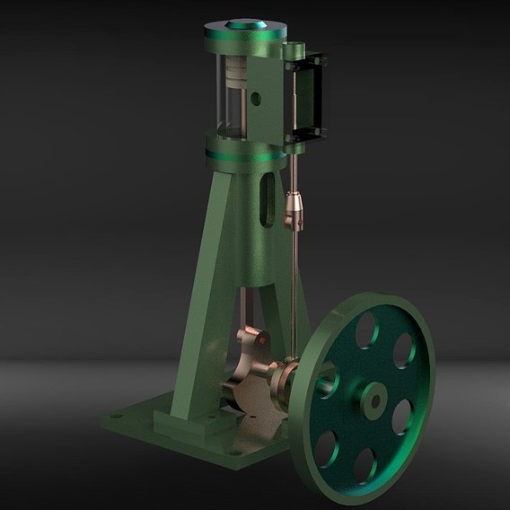 stehende einzylinder dampfmaschine