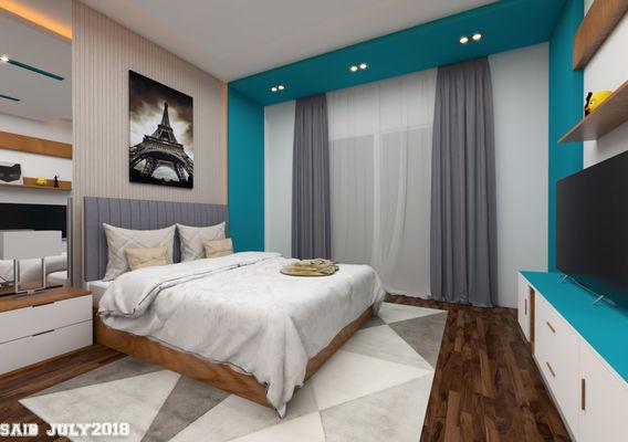 Relax & Cheerful bedroom design