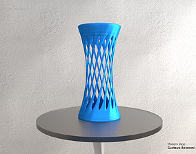 Modern Vase Elegant Twist 3D printable model
