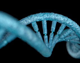 3D asset DNA STRAND with high details