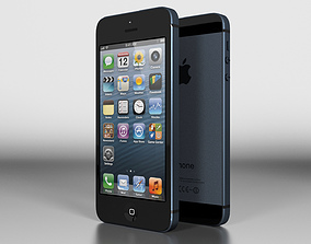 3D iPhone 5 Slate Black Vray