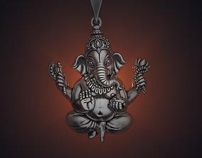 necklace Ganesha 35 mm pendant 3D print model